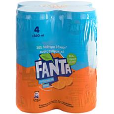 Αναψυκτικό FANTA πορτοκαλάδα χωρίς ανθρακικό (4x330ml)