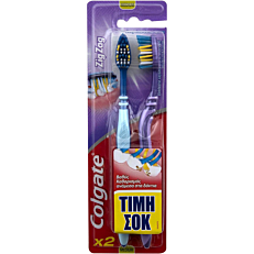 Οδοντόβουρτσα COLGATE zig zag medium (2τεμ.)