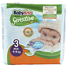 Πάνες BABYLINO Sensitive No.3, 4-9kg (22τεμ.)