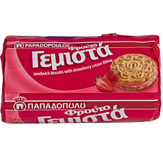 Μπισκότα ΠΑΠΑΔΟΠΟΥΛΟΥ γεμιστά με φράουλα (85g)