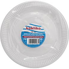 Πιάτα χάρτινα μονόχρωμα λευκά 23cm (10τεμ.)