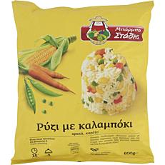 Ρύζι ΜΠΑΡΜΠΑ ΣΤΑΘΗΣ μείγμα με καλαμπόκι κατεψυγμένο (600g)