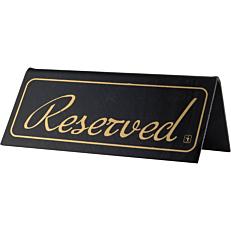 """Σήμα """"Reserved"""" μαύρη από plexiglas"""