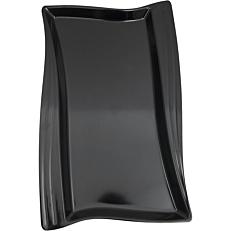 Πιατέλα μελαμίνης μαύρη 53x32,5cm