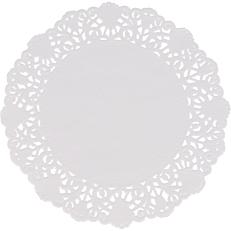 Δαντέλα στρογγυλή λευκή Φ14cm (250τεμ.)