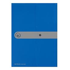 Φάκελος εγγράφων με κουμπί E.ORGA Α4 PP μπλε