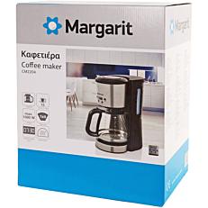 Καφετιέρα MARGARIT με χρονοδιακόπτη γκρι-μαύρο 1,5lt