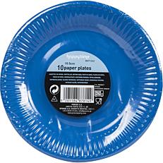 Πιάτα χάρτινα μονόχρωμα μπλε 20cm (10τεμ.)