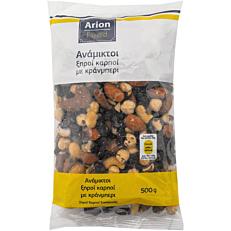 Ξηροί καρποί ARION FOOD ανάμεικτοι με κράνμπερι (500g)