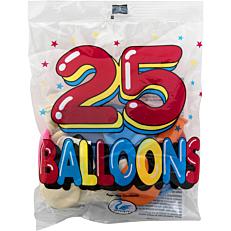 Μπαλόνια χρωματιστά σε διάφορα χρώματα 26cm (25τεμ.)