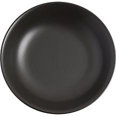 Πιάτο βαθύ πορσελάνης GURAL Bodrum μαύρο ματ Φ20cm
