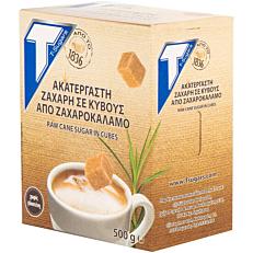 Ζάχαρη T-SUGARS καστανή σε κύβους (500g)
