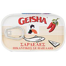 Κονσέρβα GEISHA σαρδέλες πικάντικες σε ηλιέλαιο (125g)