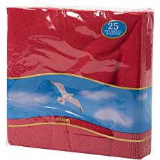 Χαρτοπετσέτες ΓΛΑΡΟΣ κόκκινες 33x33cm
