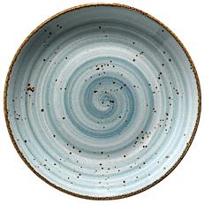 Πιάτο ρηχό πορσελάνης KUTAHYA Correndon μπλε Φ17cm