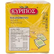 Αφέψημα EVRIPOS χαμομήλι (10x1g)