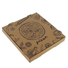 Κουτιά πίτσας microwelle κραφτ 26x26x4,2Ycm (50τεμ.)