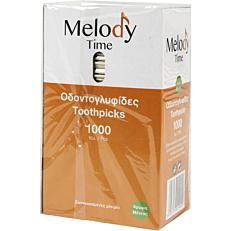 Οδοντογλυφίδες MELODY TIME με άρωμα μέντα συσκευασμένες 1/1 (1000τεμ.)