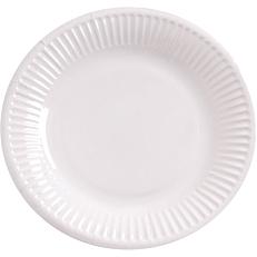 Πιάτα χάρτινα λευκά 20cm (50τεμ.)