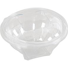 Σκεύη FROGO Pet στρογγυλά διαφανή με ενσωματωμένα καπάκια 750ml (100τεμ.)