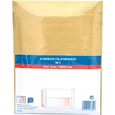 Σακούλα mail μπεζ τύπου C 150x212/5