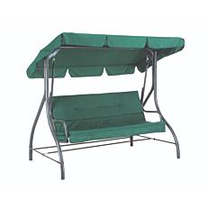 Κούνια MIMOSA GARDEN 3θέσεων μεταλλική με πράσινο μαξιλάρι 204x122x167cm