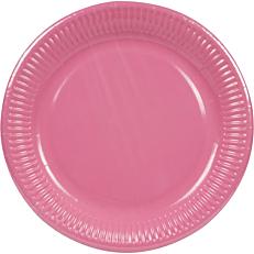Πιάτα χάρτινα μονόχρωμα φούξια 23cm (10τεμ.)