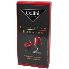 Καφές CELLINI espresso decaf σε κάψουλες (10x5g)