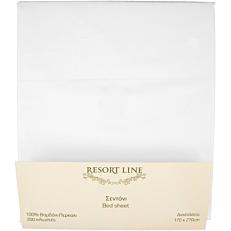 Σεντόνι RESORT LINE βαμβακερό λευκό 170x270cm