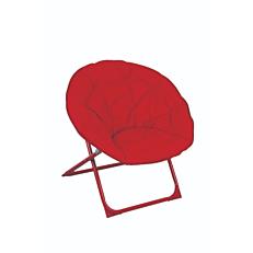 Πολυθρόνα relax μεταλλική πτυσσόμενη κόκκινη
