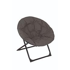 Πολυθρόνα relax μεταλλική πτυσσόμενη taupe