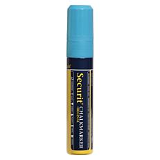 Μαρκαδόρος SECURIT υγρής κιμωλίας μαύρου πίνακα μπλε