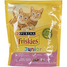 Ξηρά τροφή FRISKIES γάτας junior με κοτόπουλο, γάλα και λαχανικά (375g)