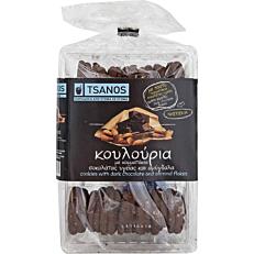 Κουλούρια TSANOS με σοκολάτα υγείας και αμύγδαλο (300g)