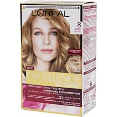 Βαφή μαλλιών L'OREAL excellence ξανθό ανοιχτό no.8