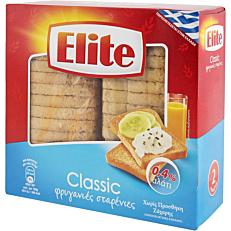 Φρυγανιά ELITE σίτου, 0,4% αλάτι (250g)