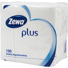 Χαρτοπετσέτες ZEWA λευκές 33x33cm 100 φύλλα