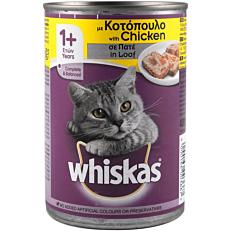 Τροφή WHISKAS γάτας με κοτόπουλο (400g)