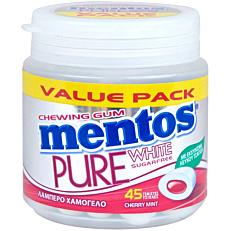 Τσίχλες MENTOS Pure White μέντα κεράσι (90g)