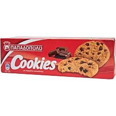 Μπισκότα ΠΑΠΑΔΟΠΟΥΛΟΥ cookies με κομμάτια σοκολάτας (180g)