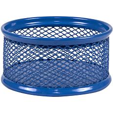 Θήκη συνδετήρων με μεταλλικό δίχτυ μπλε 8x4cm