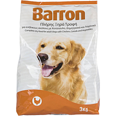 Τροφή BARRON σκύλου με κοτόπουλο, δημητριακά και λαχανικά (3kg)