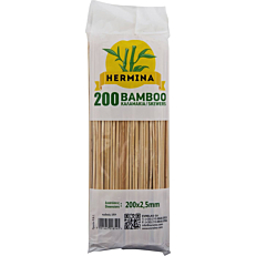 Καλαμάκια HERMINA ξύλινα 200x2,5mm (200τεμ.)