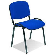 Καρέκλα επισκέπτη μπλε με μαύρο σκελετό