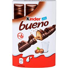 Γκοφρέτα KINDER BUENO σοκολάτα φουντούκι (6x21,5g)