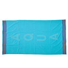 Πετσέτα θαλάσσης ζακάρ aqua-τυρκουάζ 85x150cm