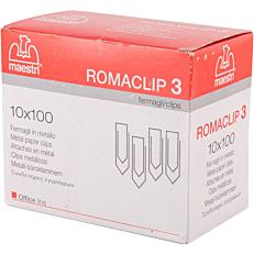 Συνδετήρες ROMA ατσάλινοι Νο.3 (100x10τεμ.)