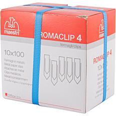 Συνδετήρες ROMA ατσάλινοι Νο.4 (100x10τεμ.)