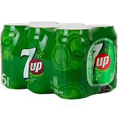 Αναψυκτικό 7 UP γκαζόζα (6x330ml)