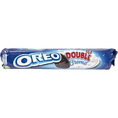 Μπισκότα OREO με διπλή γέμιση βανίλια (185g)